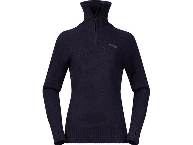 Bergans Ulriken Suéter Mujer, purple velvet melange